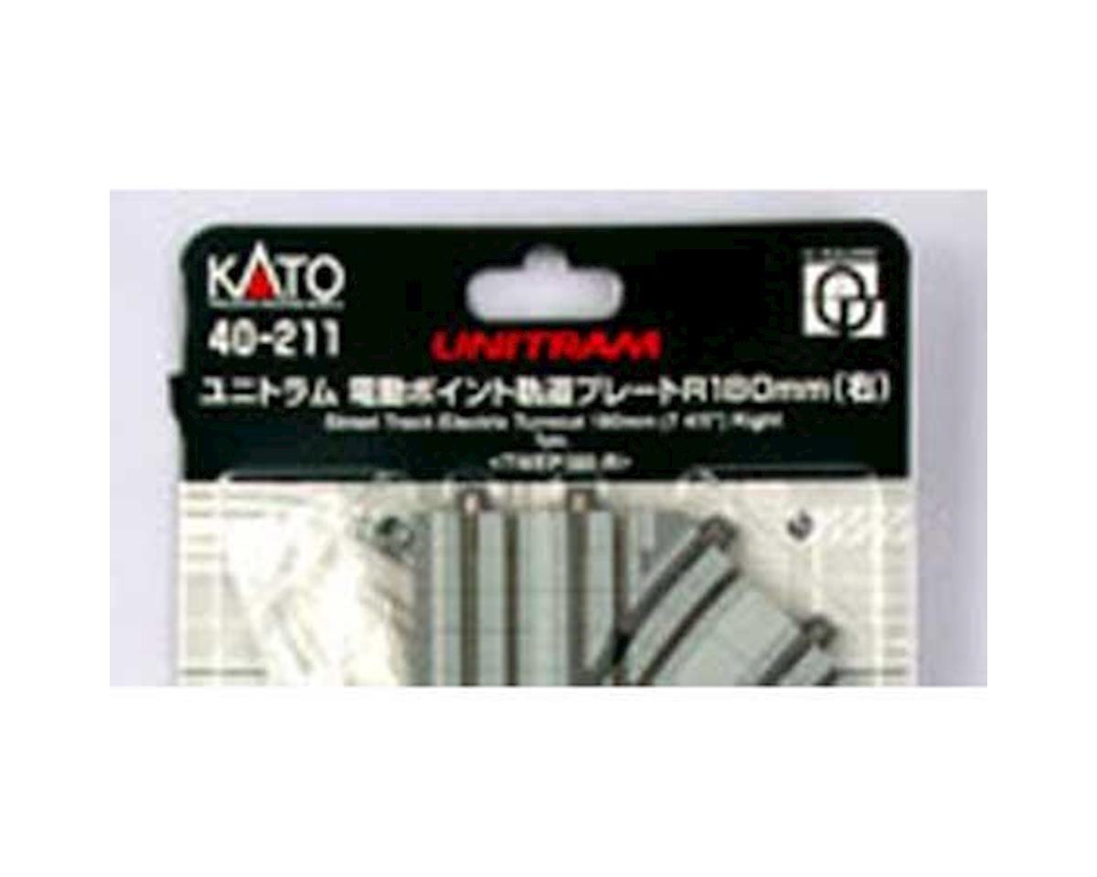 Kato UNITRAM R180mm Right Electric Turnout Street Track