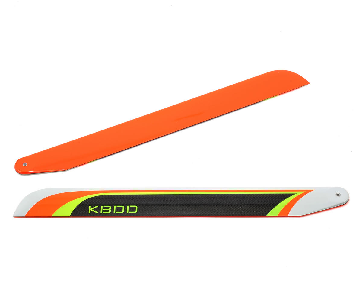 KBDD International 325mm Carbon Fiber Extreme Flybarless Main Blade (Orange)