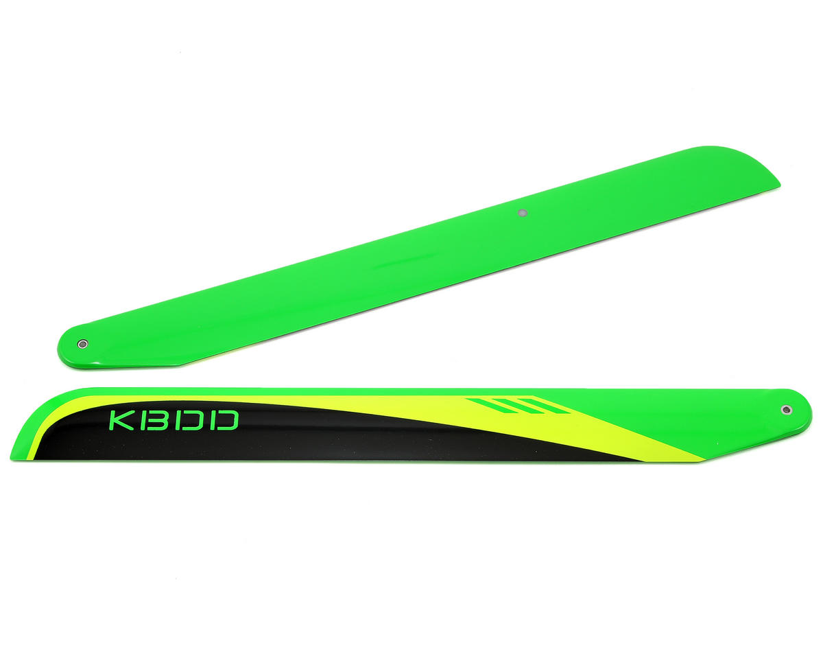 KBDD International 350mm Carbon Fiber Flybarless Main Blades (Black)