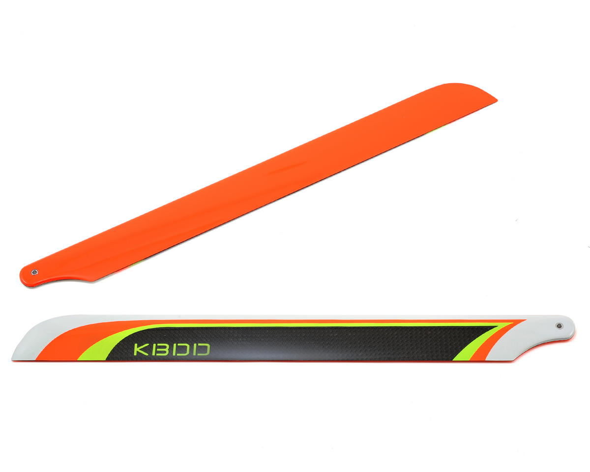 KBDD International 350mm Carbon Fiber Extreme Flybarless Main Blade (Orange)