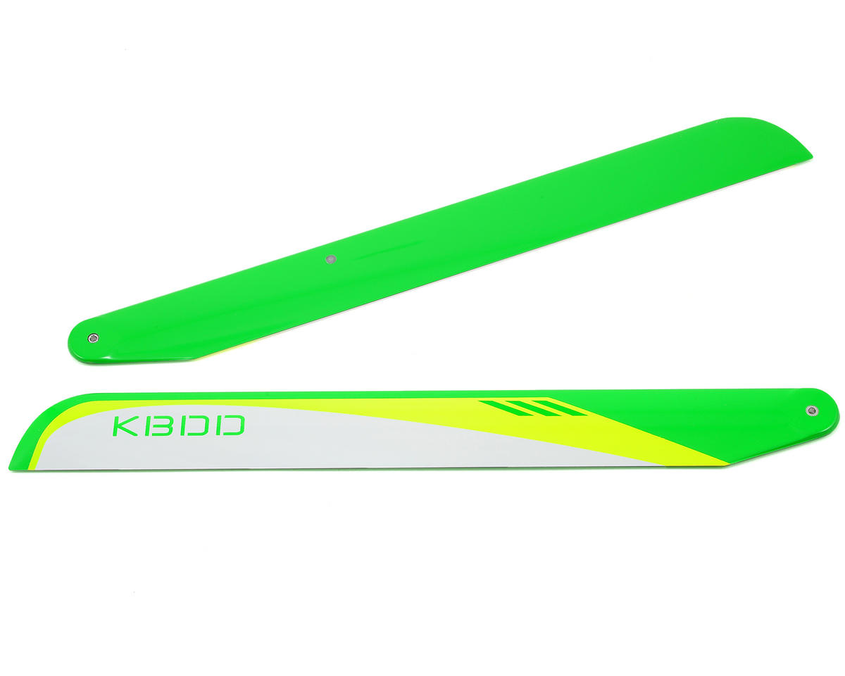 KBDD International 350mm Carbon Fiber Flybarless Main Blades (White)