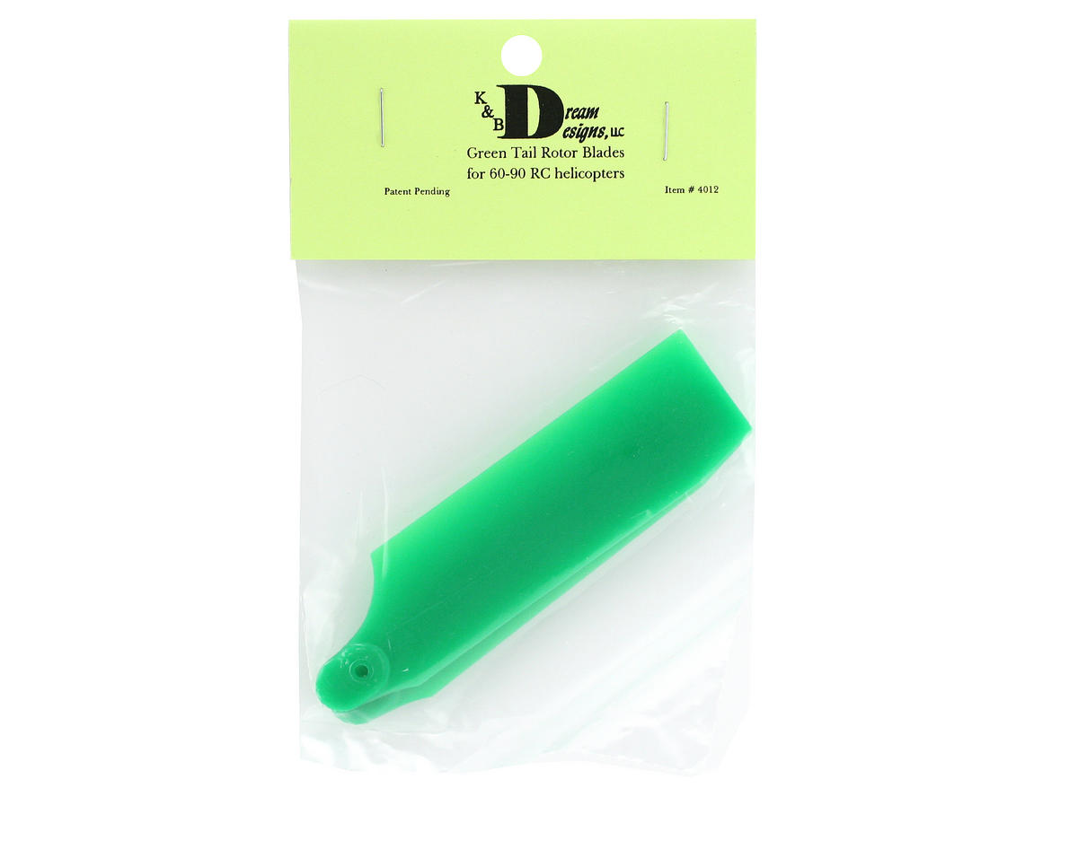 KBDD International 60-90 Size 102mm Neon Tail Blades (Green)