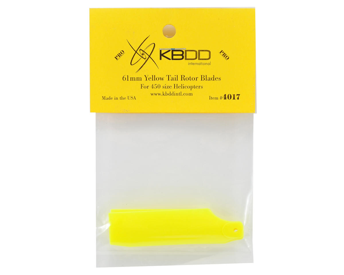 KBDD International T-REX 450 Pro 61mm Neon Tail Blades (Yellow)