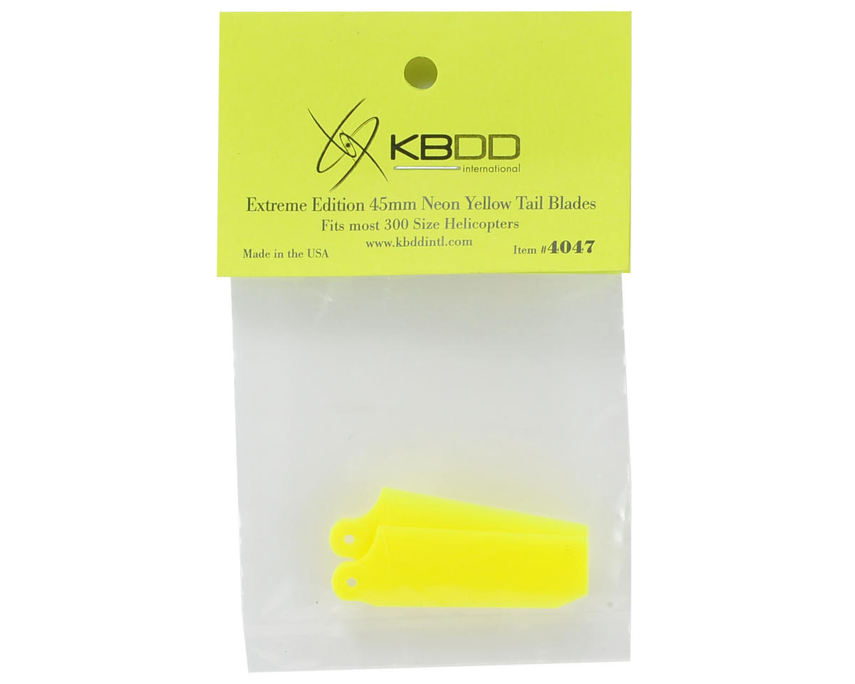 KBDD International 45mm Extreme Edition Tail Blade Set (Yellow)