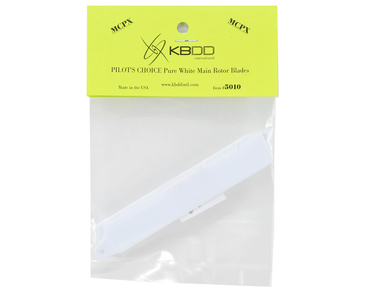 "Image 2 for KBDD International Blade mCP X ""Pilot's Choice"" Main Blade Set (White)"