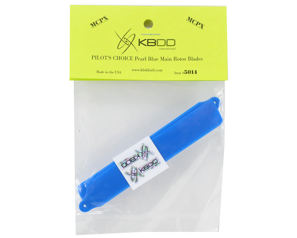 "KBDD International Blade mCP X ""Pilot's Choice"" Main Blade Set (Blue)"