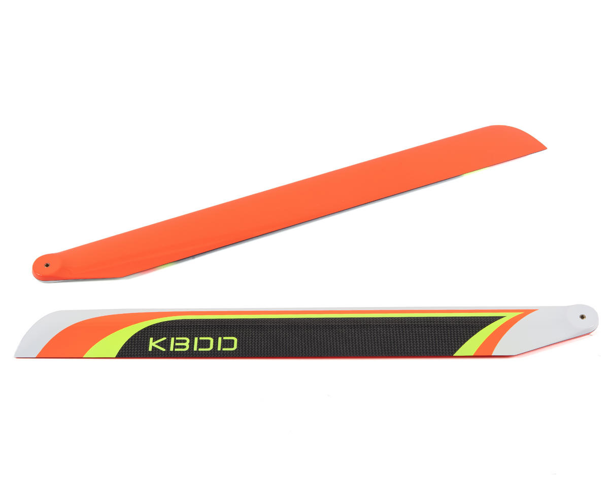 KBDD International 515mm Carbon Fiber Extreme Flybarless Main Blade (Orange)