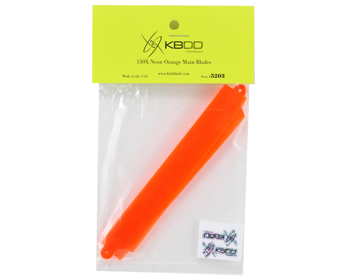 KBDD International Blade 130 X Extreme Edition Main Blade Set (Neon Orange)