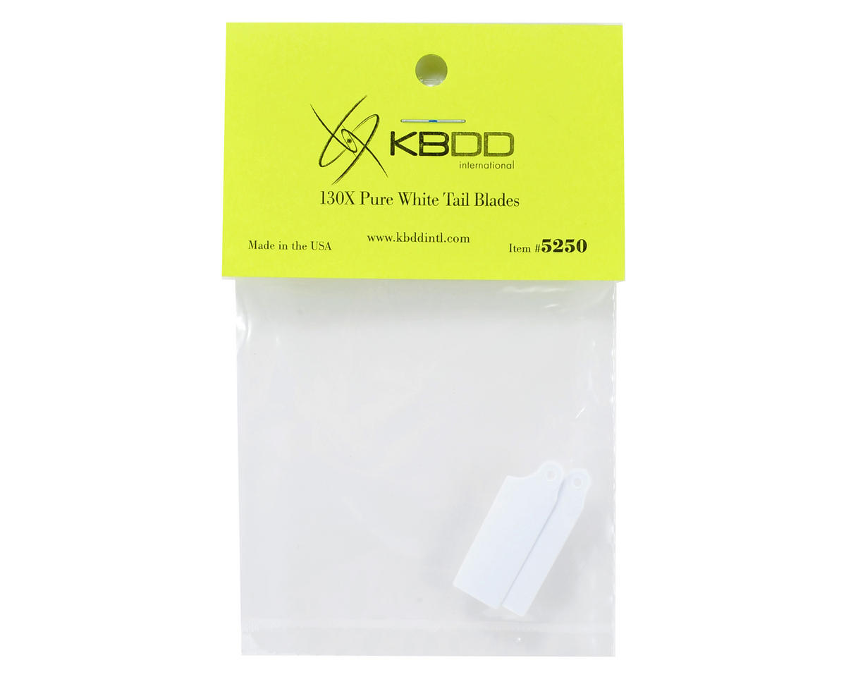 KBDD International Blade 130 X Extreme Edition Tail Blade Set (White)