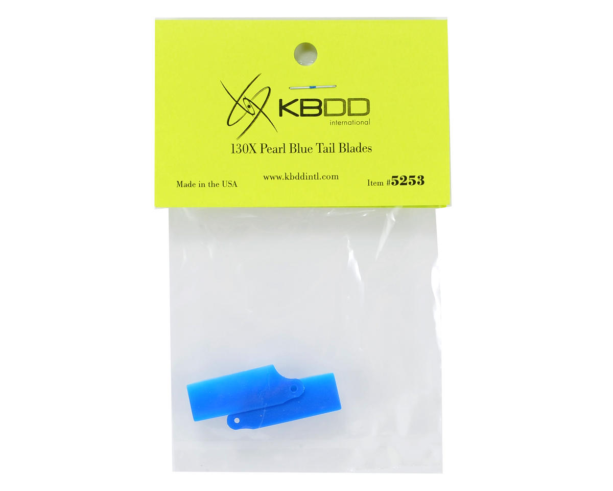 KBDD International Blade 130 X Extreme Edition Tail Blade Set (Blue)