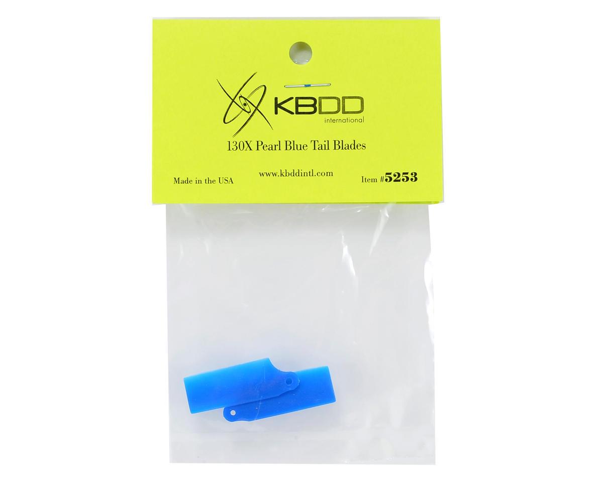 Blade 130 X Extreme Edition Tail Blade Set (Blue) by KBDD International