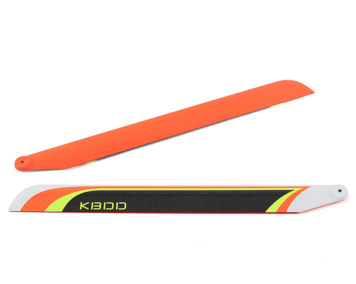 550mm Carbon Fiber Extreme Flybarless Main Blade (Orange) by KBDD International