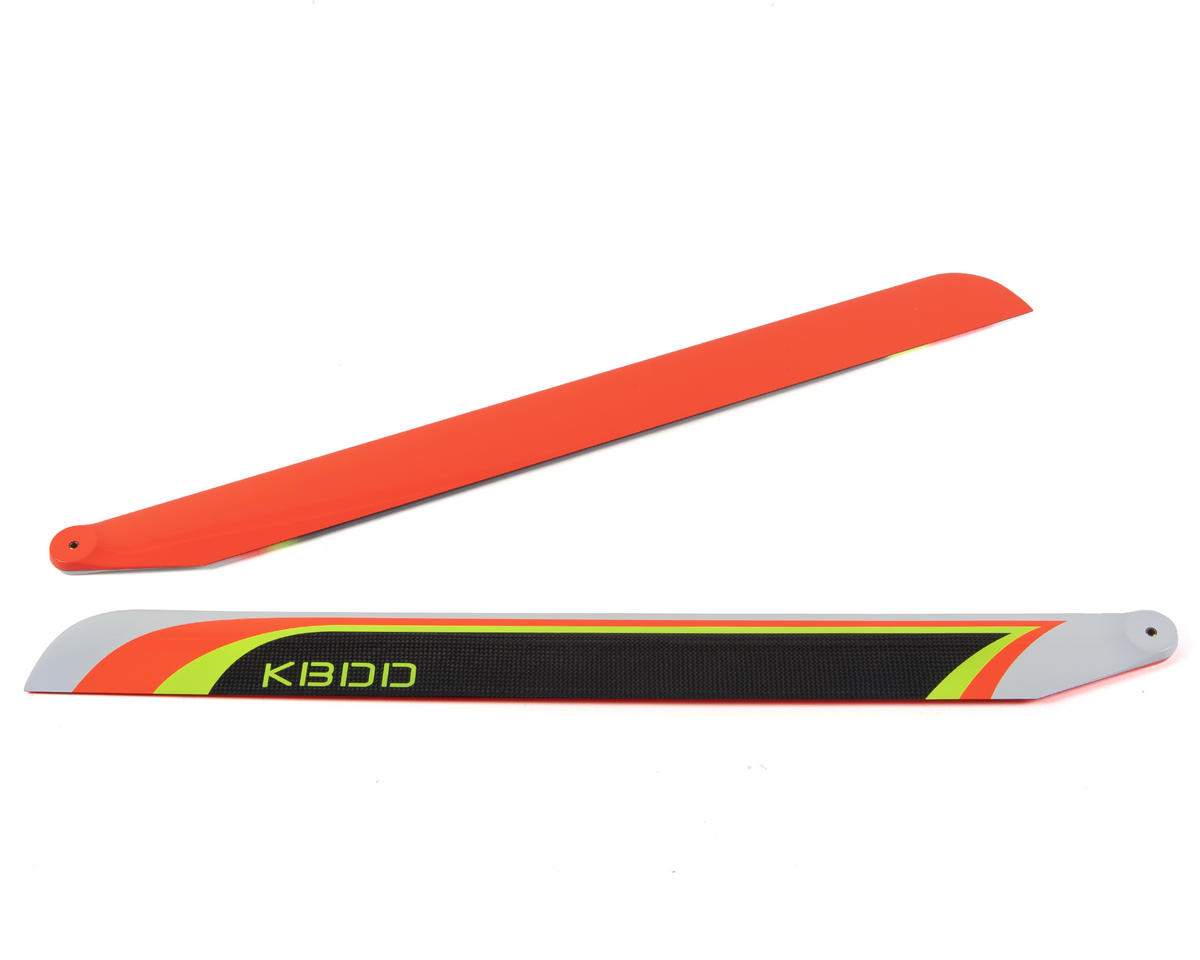 710mm Carbon Fiber Extreme Flybarless Main Blade (Orange) by KBDD International