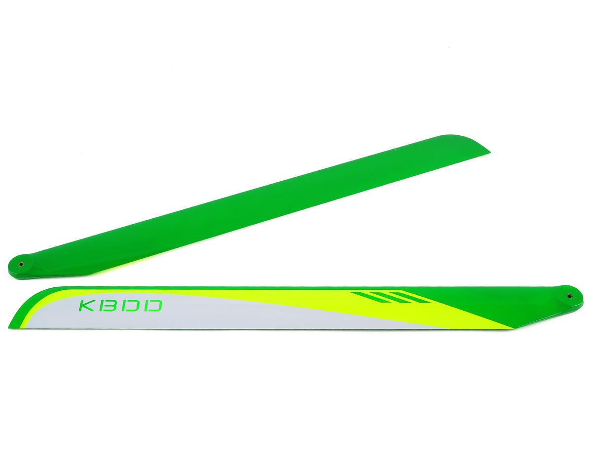 KBDD International 710mm Carbon Fiber Flybarless Main Blades (White)