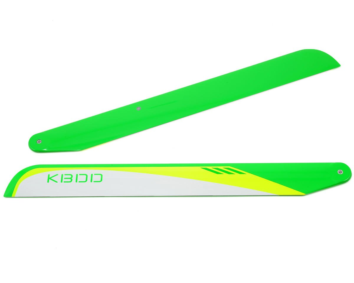 KBDD International 325mm Carbon Fiber Flybarless Main Blades (White)