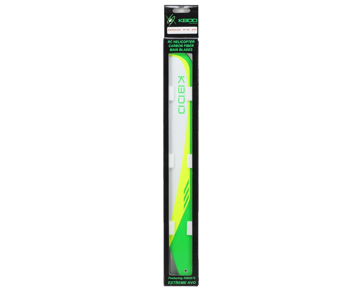 KBDD International 325mm Carbon Fiber Flybarless Main Blades (White)