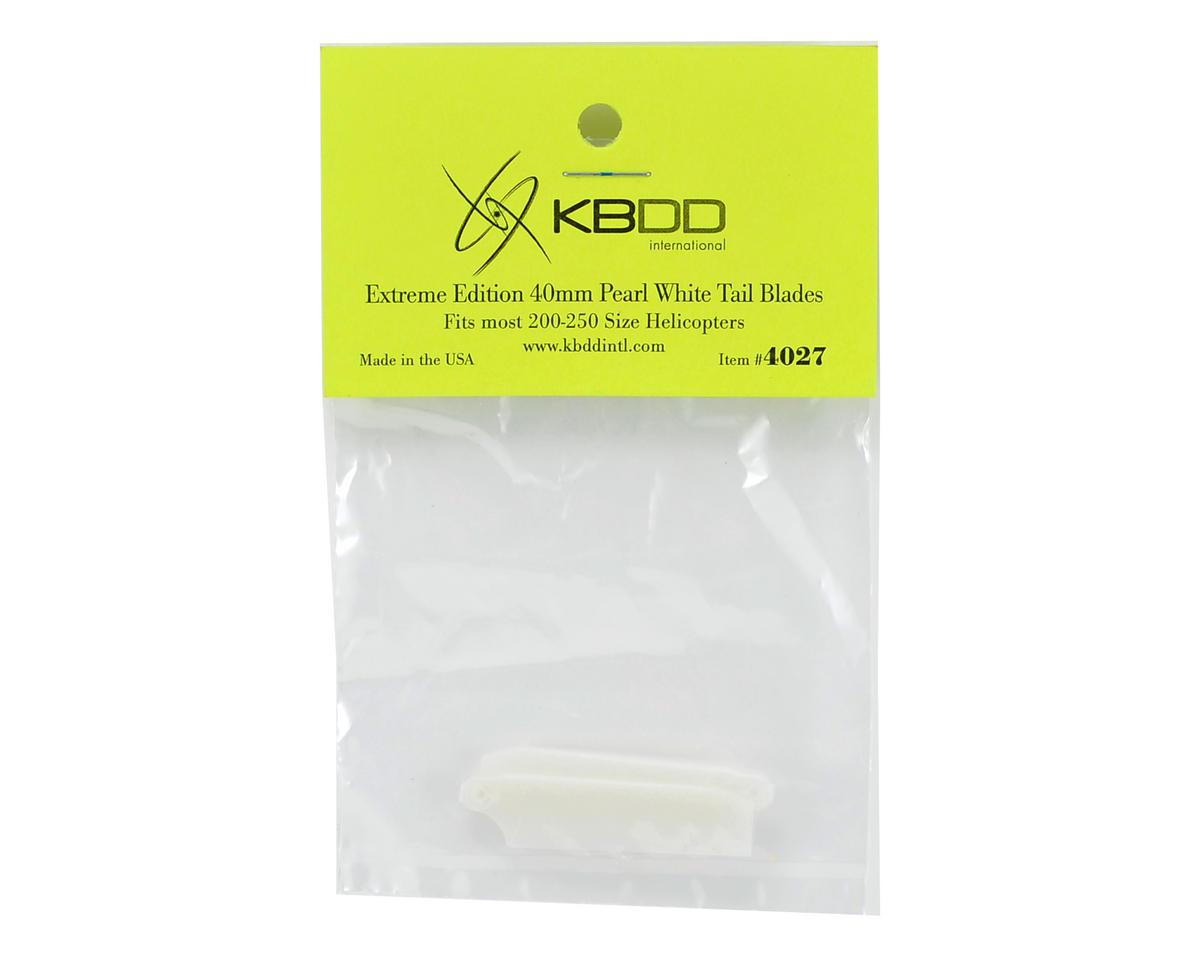 HP 200/250 Extreme Edition 40mm Tail Blade Set (White) (2) by KBDD International
