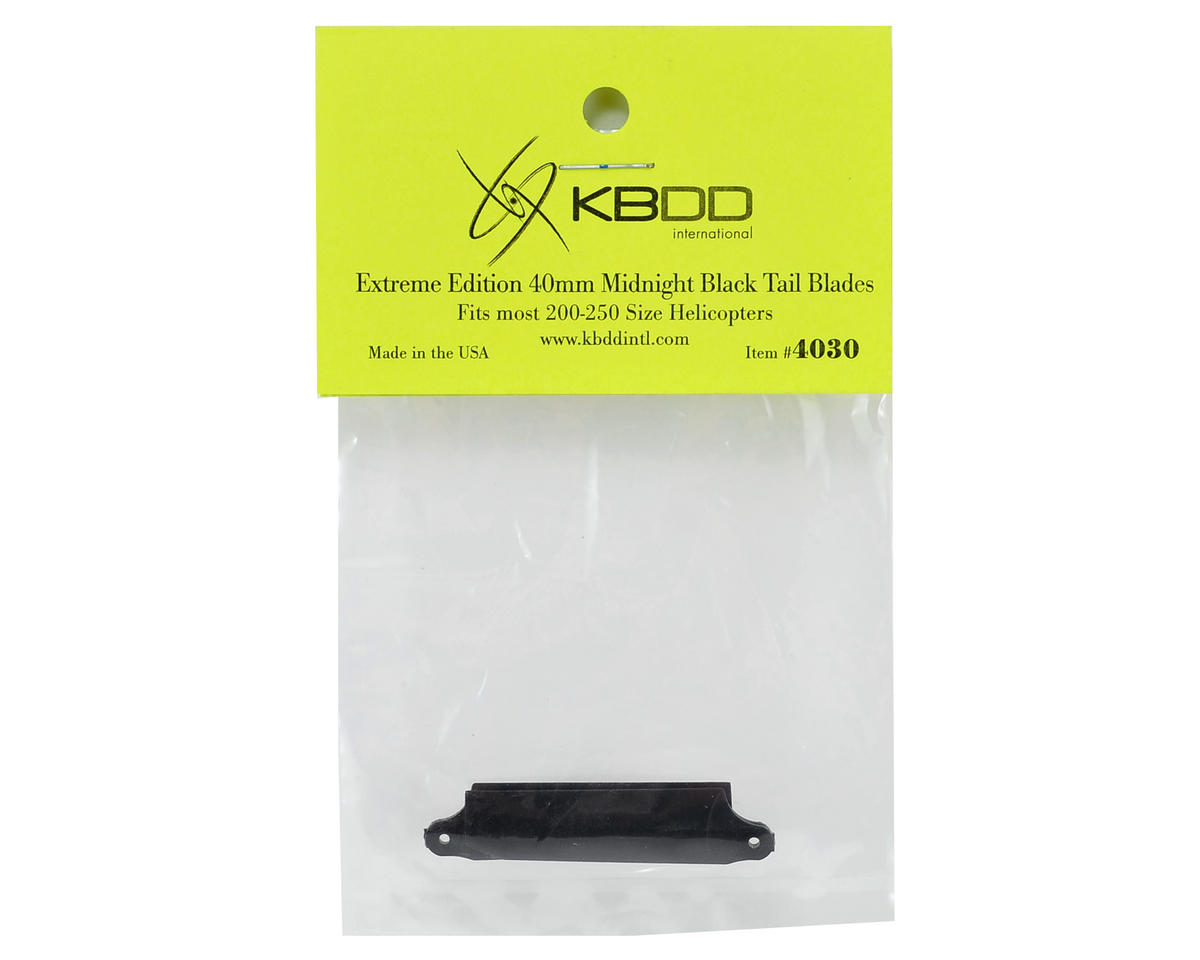 KBDD International HP 200/250 Extreme Edition 40mm Tail Blade Set (Black) (2)