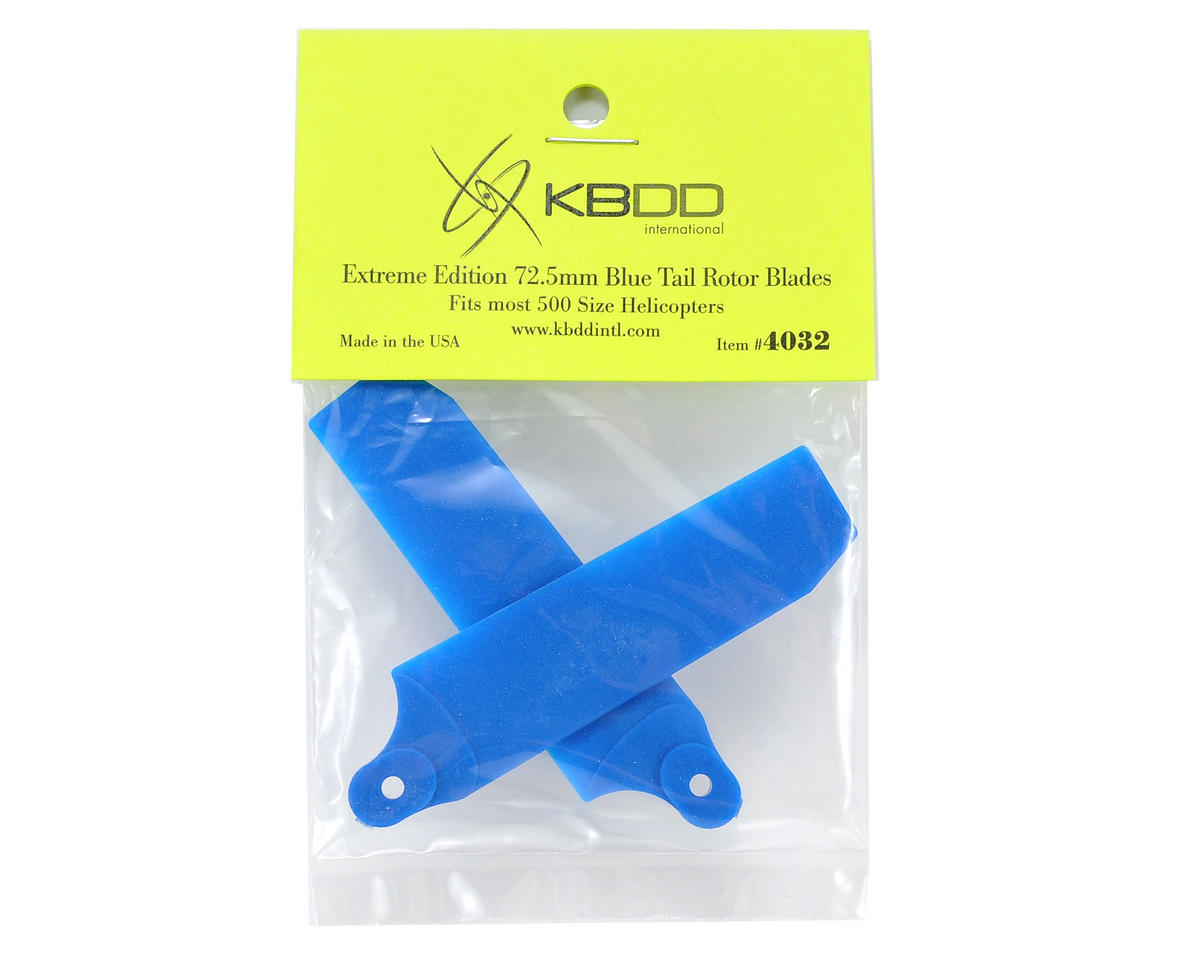 KBDD International Extreme Edition 72.5mm Tail Blade Set w/5mm Root (Blue)