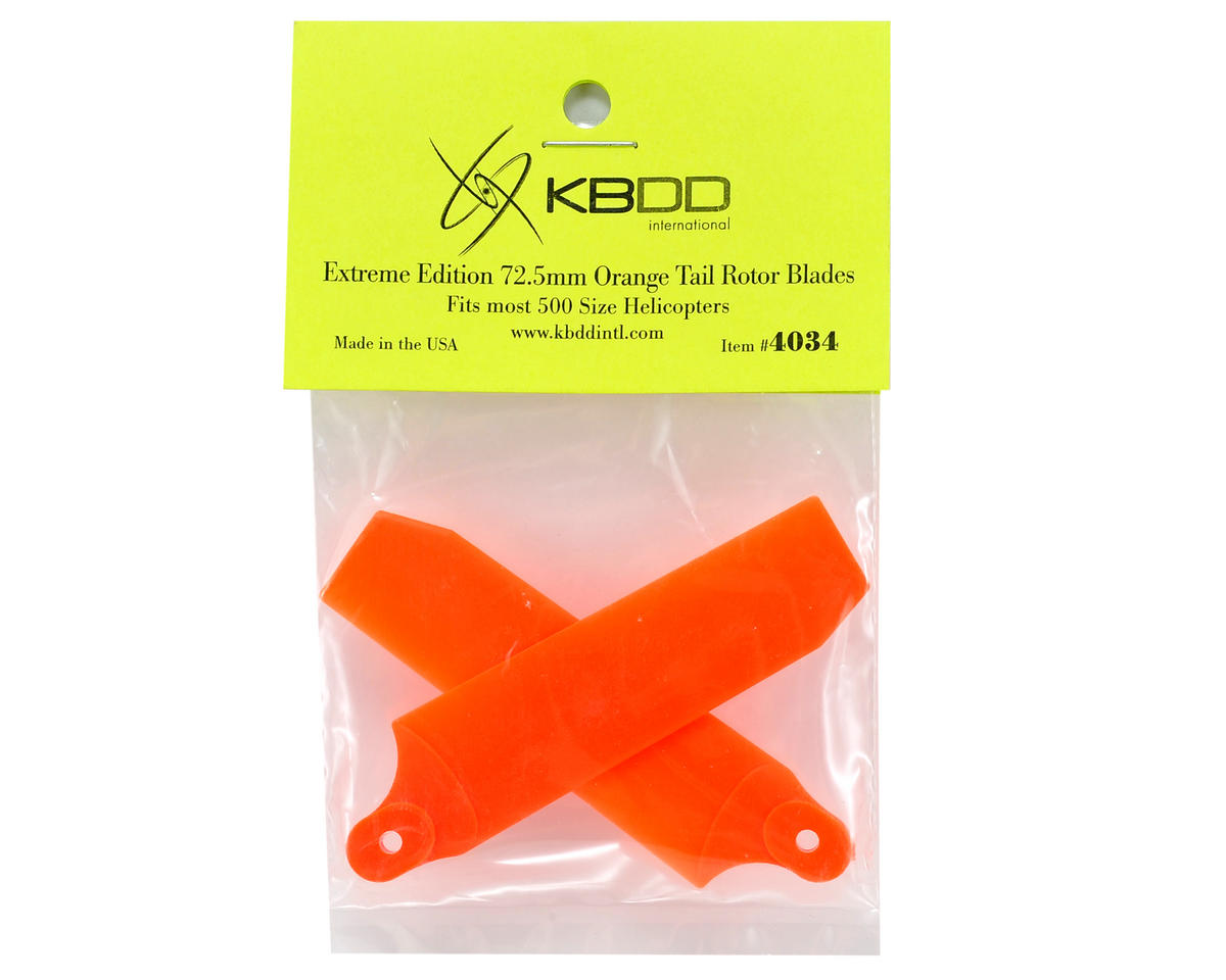 KBDD International 72.5mm Extreme Tail Blade w/5mm Root (Neon Orange)