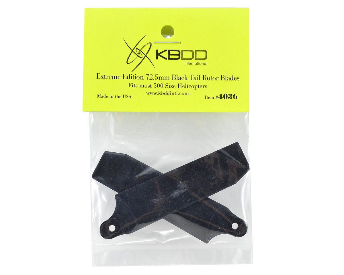 KBDD International Extreme Edition 72.5mm Tail Blade Set w/5mm Root (Black)