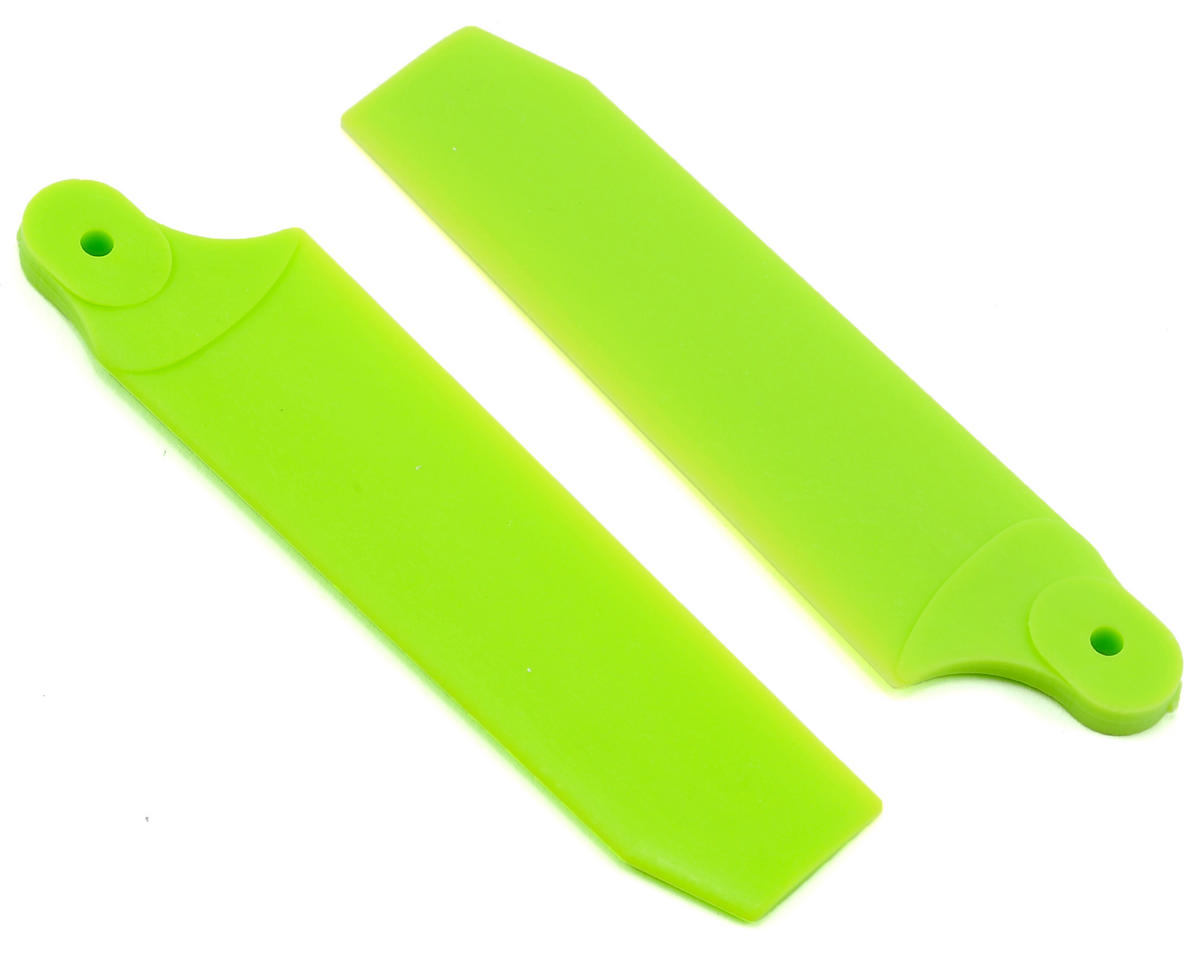 KBDD International Extreme Edition 72.5mm Tail Blade Set w/4mm Root (Neon Lime)