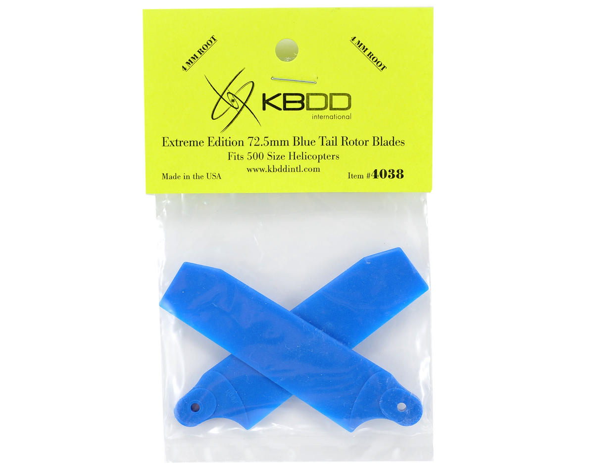 KBDD International Extreme Edition 72.5mm Tail Blade Set w/4mm Root (Blue)