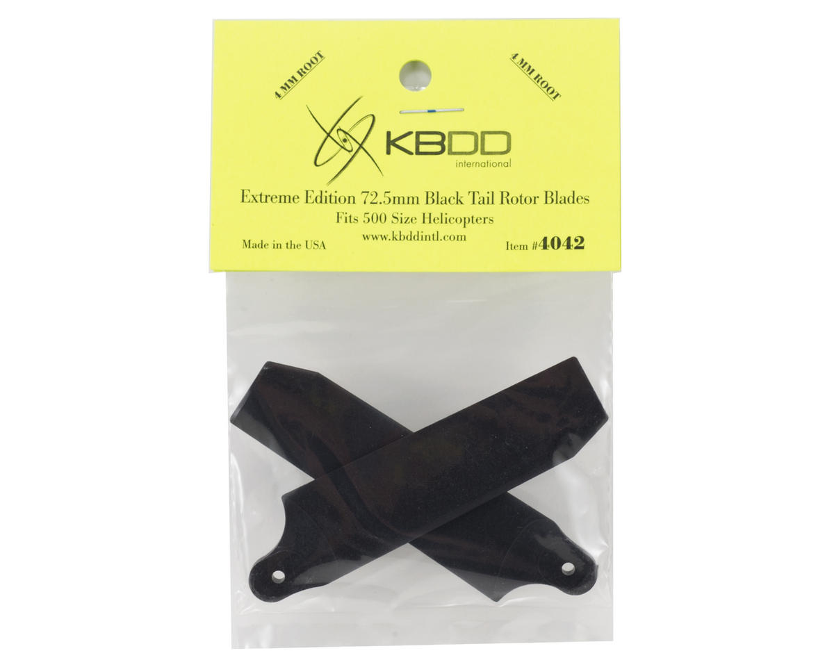 KBDD International Extreme Edition 72.5mm Tail Blade Set w/4mm Root (Black)