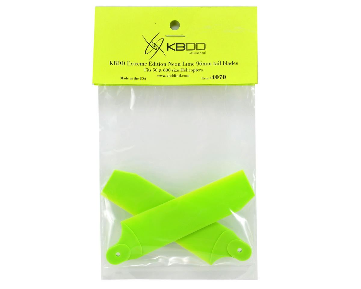 KBDD International Extreme Edition 96mm Tail Blade Set (Neon Lime)