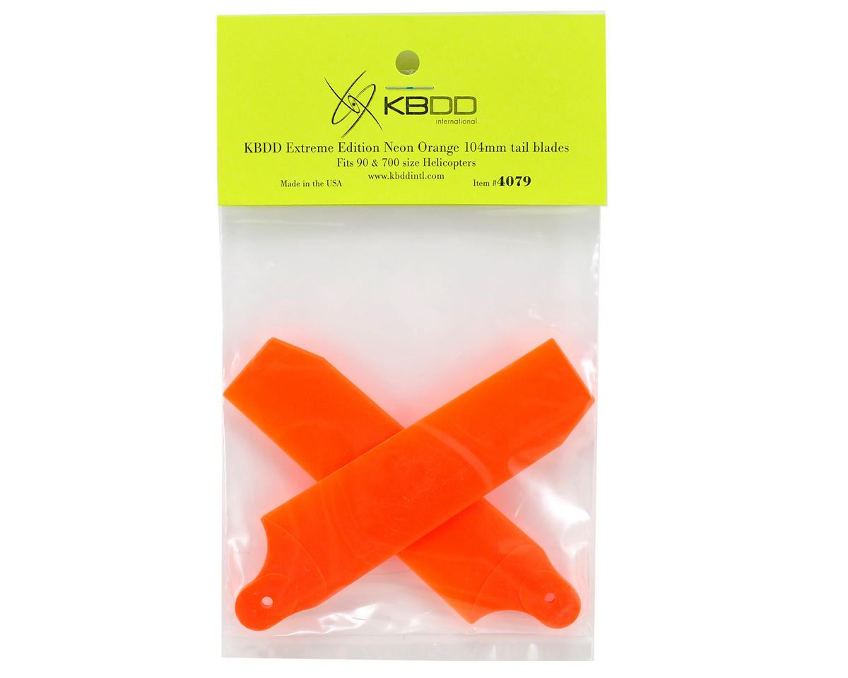 KBDD International Extreme Edition 104mm Tail Blade Set (Neon Orange)