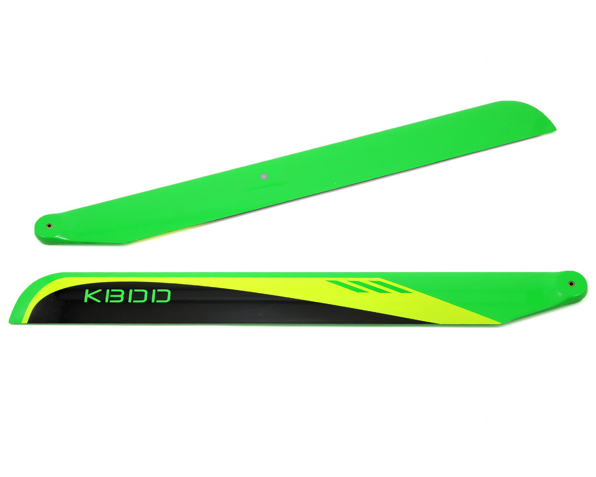 KBDD International 430mm Carbon Fiber Flybarless Main Blades (Black)