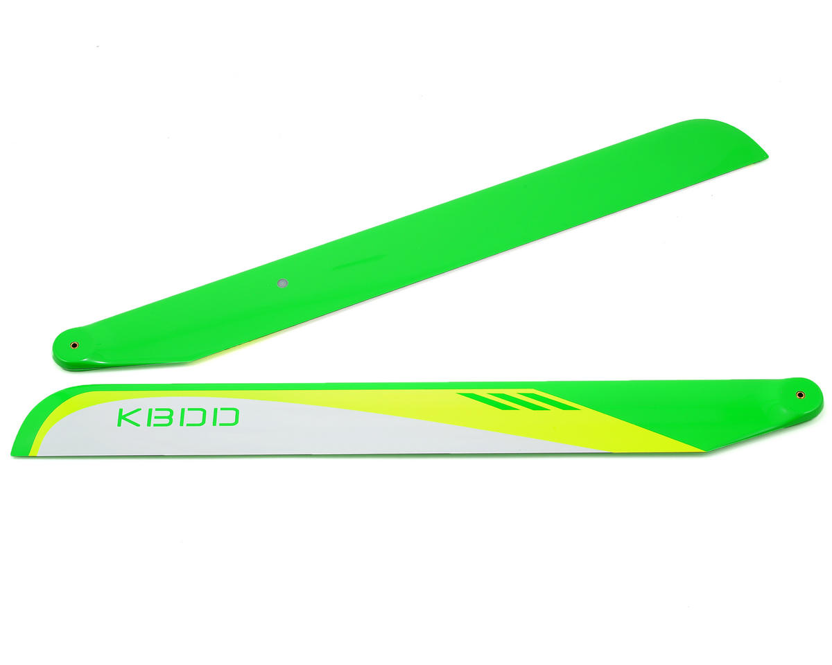 KBDD International 430mm Carbon Fiber Flybarless Main Blades (White)