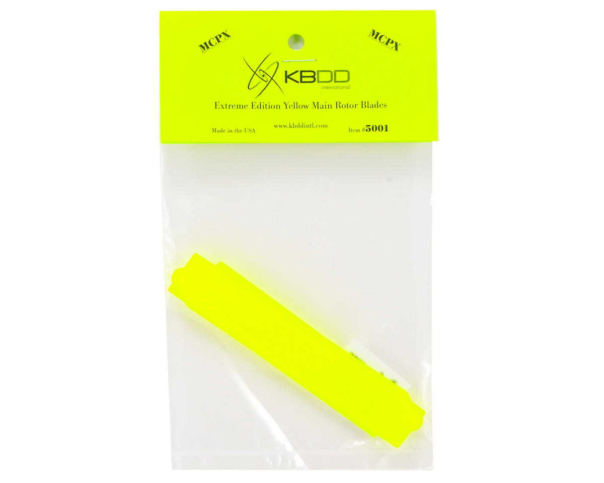 KBDD International Blade mCP X Extreme Edition Main Blade Set (Neon Yellow)