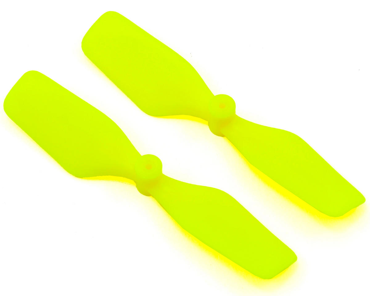 Blade mCP X Extreme Edition Tail Blade Set (Neon Yellow) (2) by KBDD International