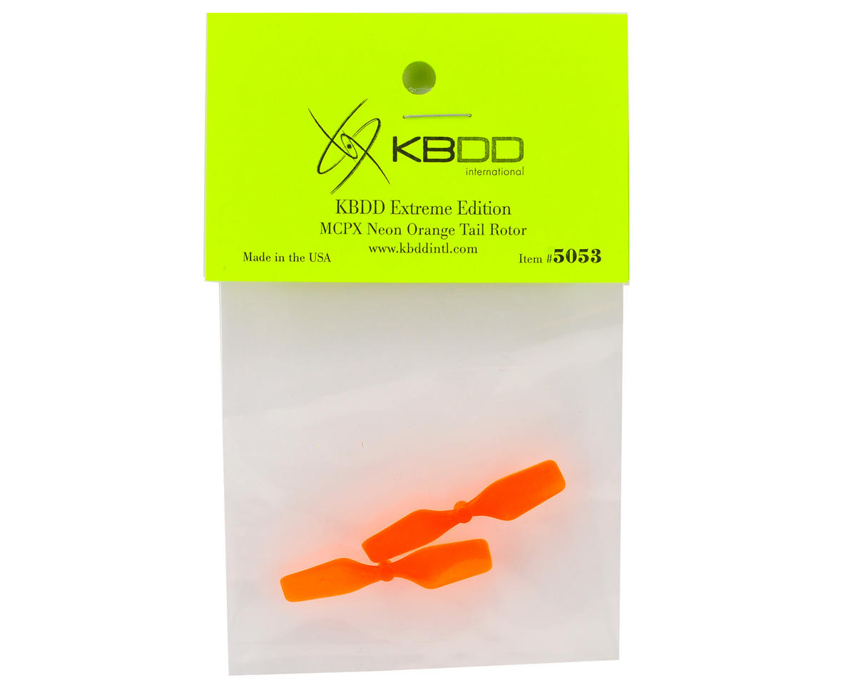 KBDD International Blade mCP X Extreme Edition Tail Blade Set (Neon Orange) (2)