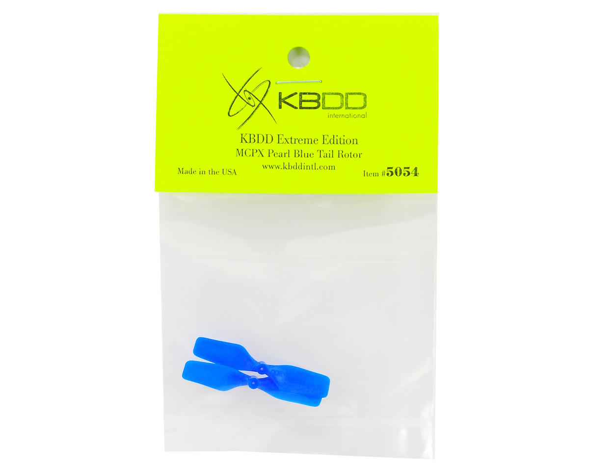 KBDD International Blade mCP X Extreme Edition Tail Blade Set (Blue) (2)