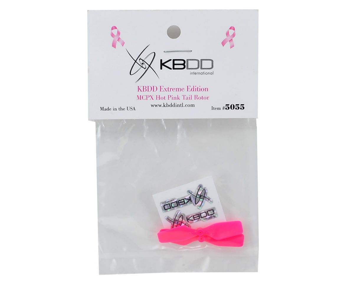 KBDD International Blade mCP X Extreme Edition Tail Blade Set (Hot Pink) (2)