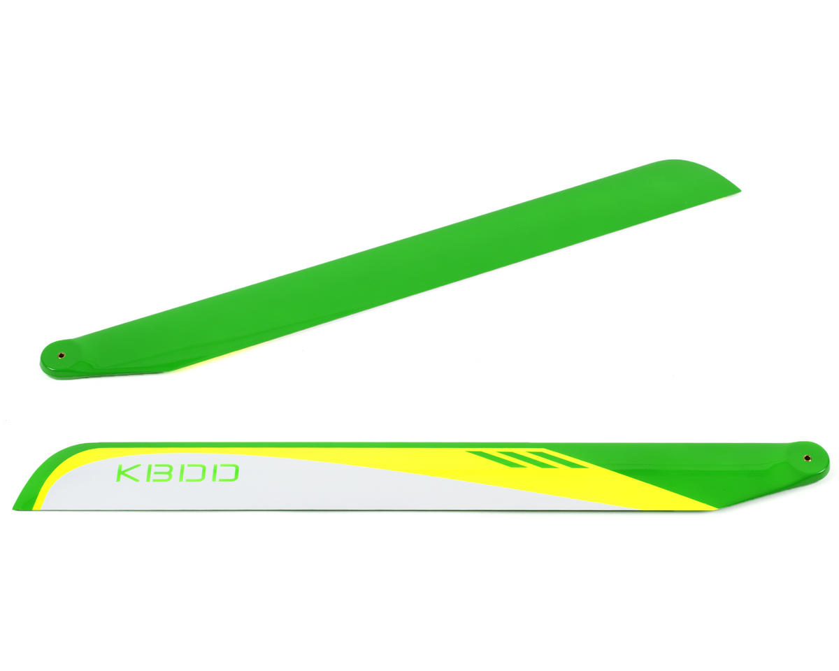 KBDD International 550mm Carbon Fiber Flybarless Main Blades (White)