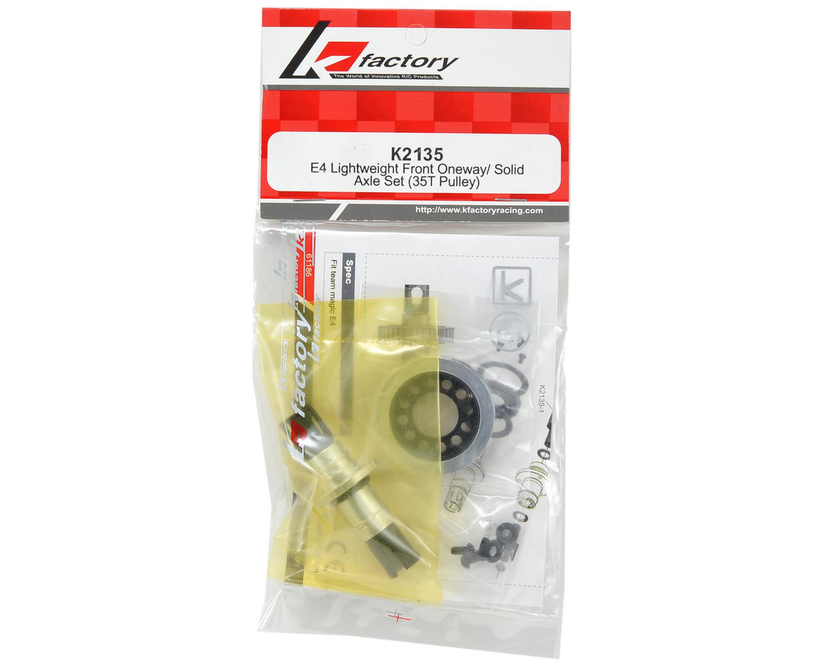 K Factory Front Oneway/Solid Axle Set (35T Pulley)