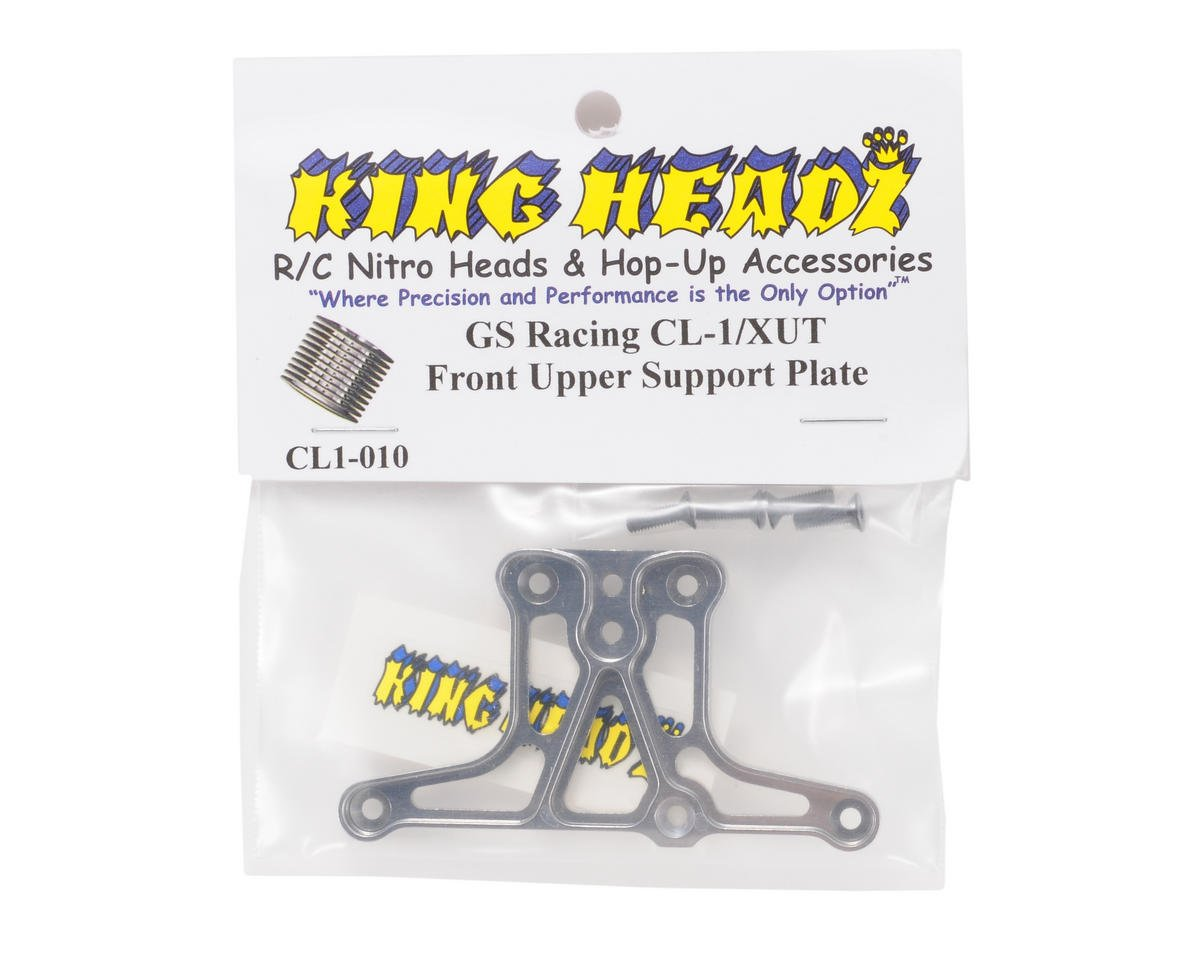 King Headz GS Racing CL-1/XUT EZ Front Upper Support Plate (Grey)