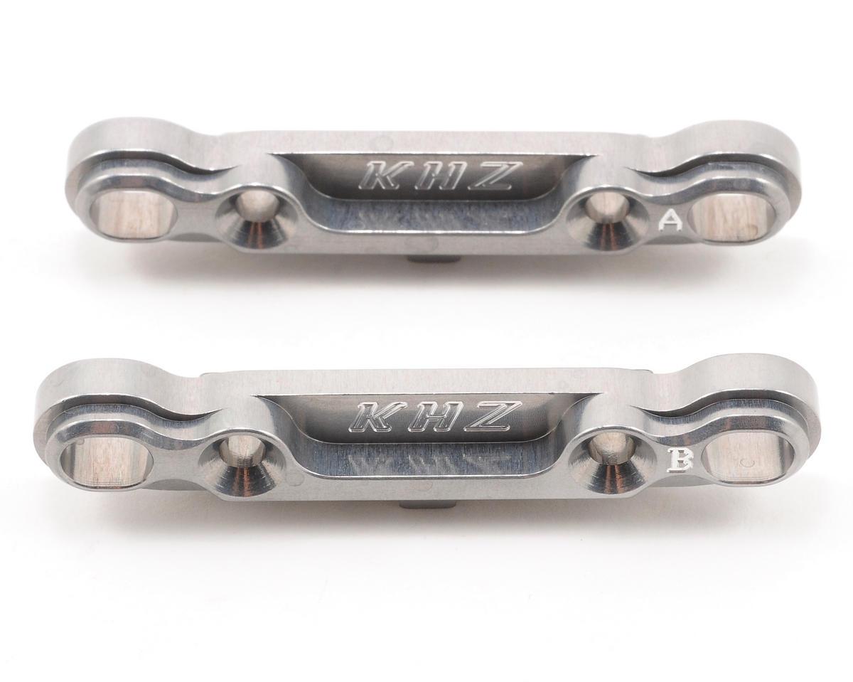 King Headz GS Racing CL-1/XUT EZ Rear Toe-In Plate Set (Grey)