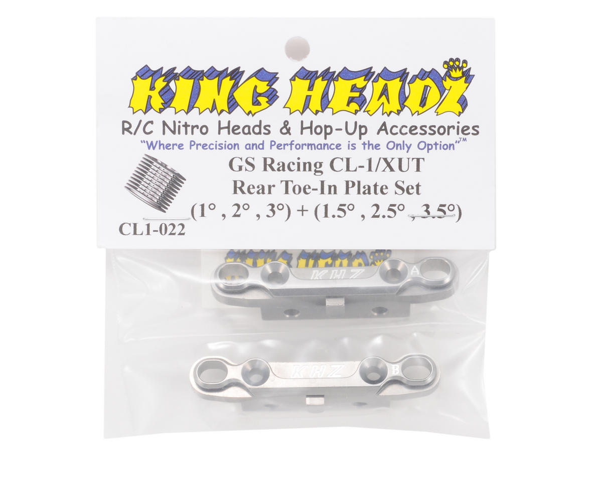 King Headz GS Racing CL-1/XUT EZ Rear Toe-In Plate Set (Grey)