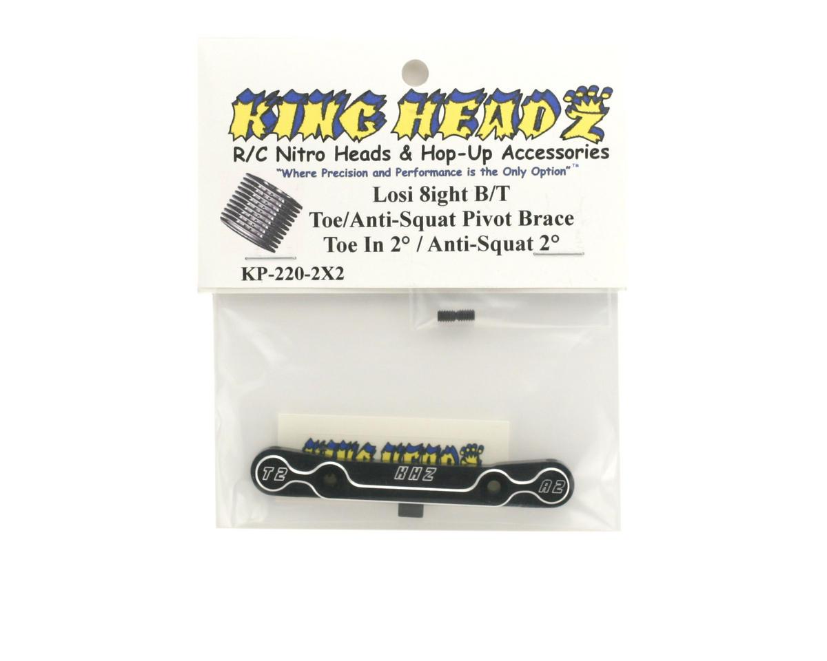 King Headz Team Losi 8ight/8ight-T Toe/Anti-Squat Pivot Brace (2° T/2° AS)