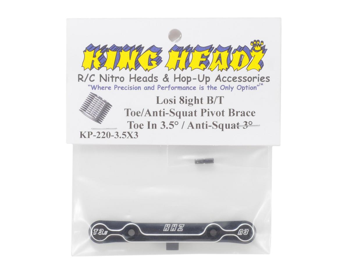 King Headz Team Losi 8ight/8ight-T Toe/Anti-Squat Pivot Brace (3.5° T/3° AS)