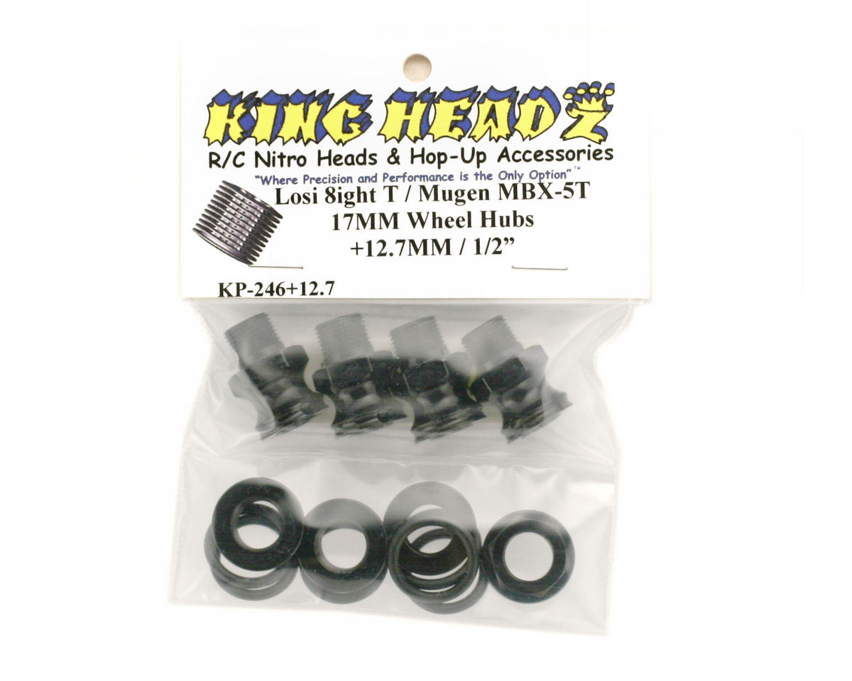 King Headz Losi 8ight-T 17mm Wheel Hubs (+12.7mm)