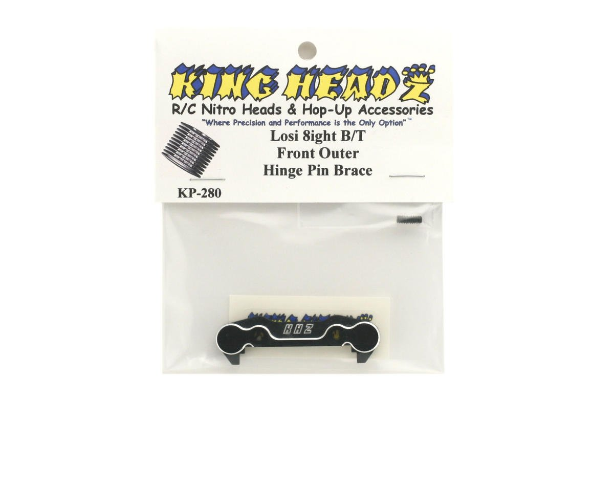 King Headz Team Losi 8ight/8ight-T Front Outer Hinge Pin Brace