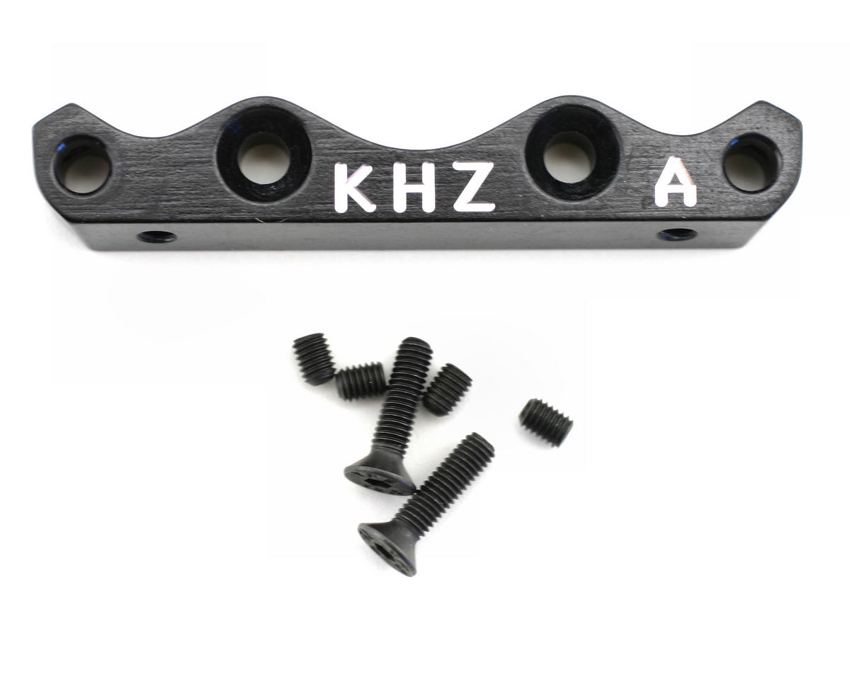 Kyosho MP777 Front Lower Suspension Holder (A) - Black by King Headz