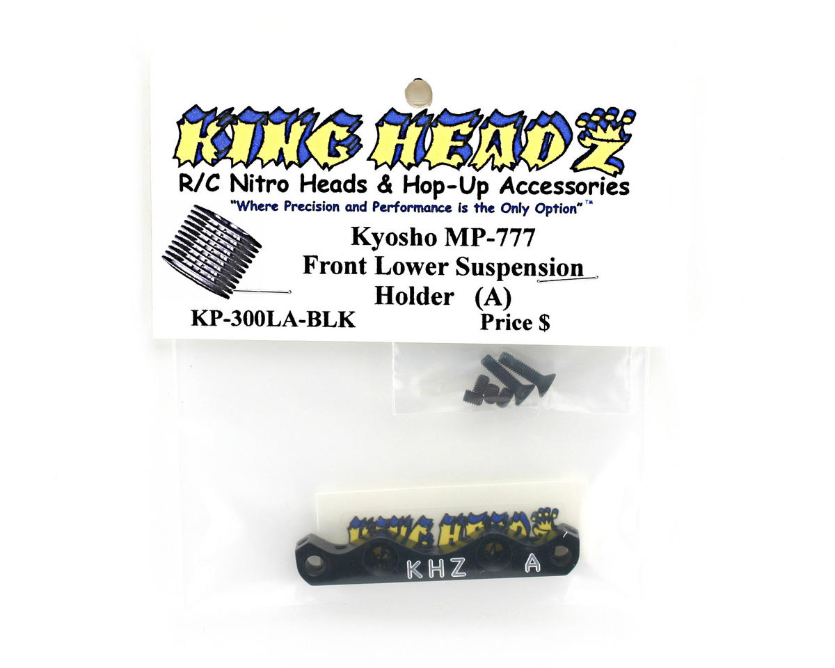 King Headz Kyosho MP777 Front Lower Suspension Holder (A) - Black