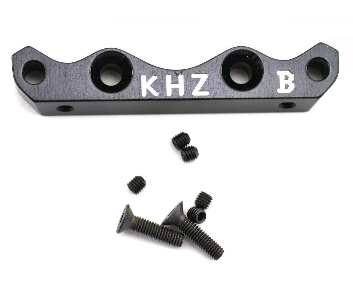 King Headz Kyosho MP777 Front Lower Suspension Holder (B) - Black