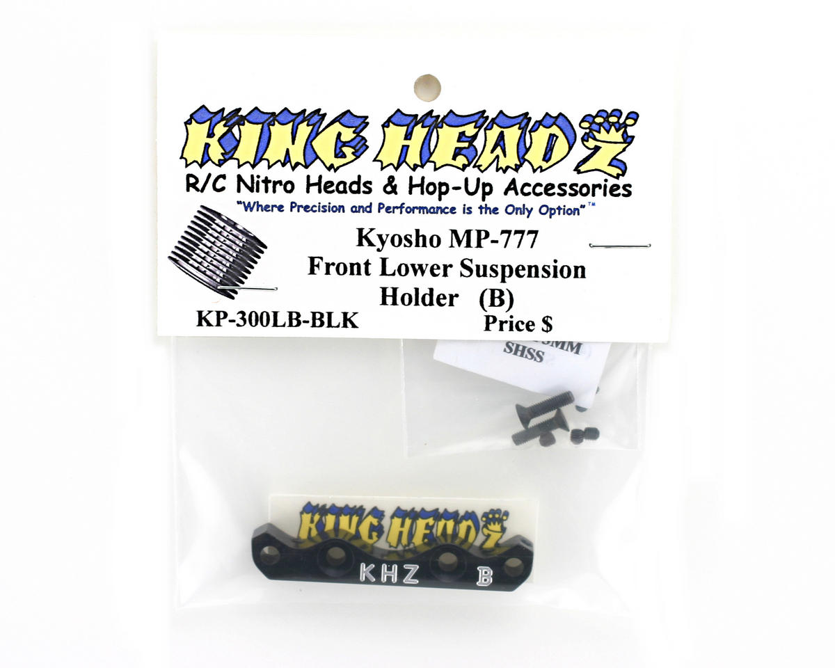 Kyosho MP777 Front Lower Suspension Holder (B) - Black by King Headz